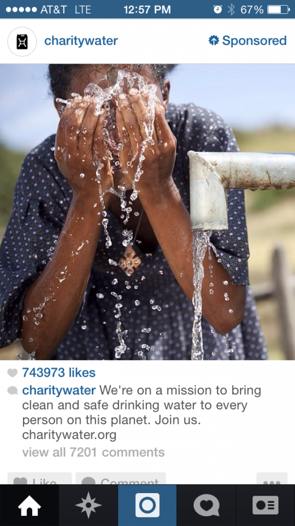 Charity Water Instagram Ads