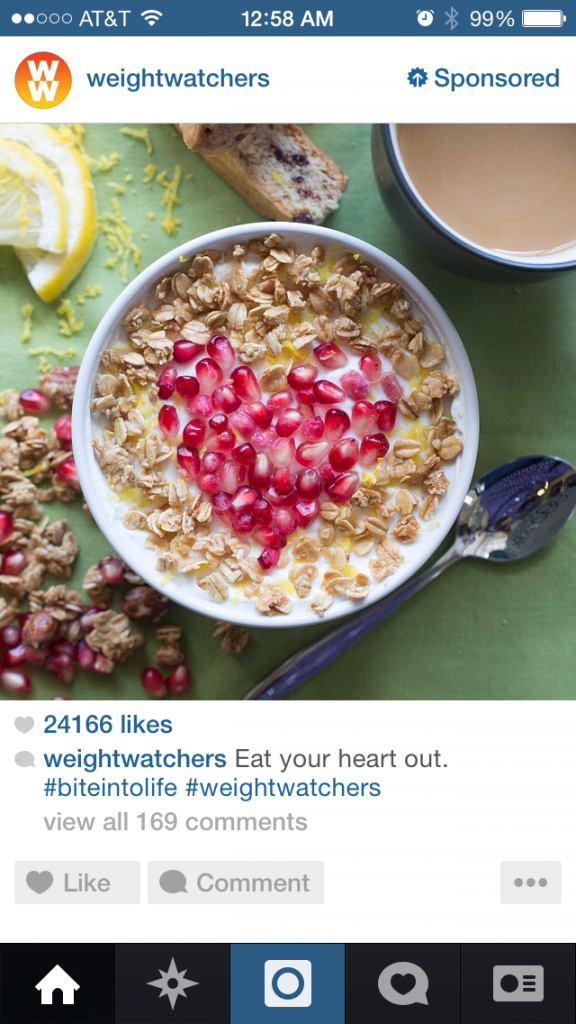 Weight Watchers Instagram Ads