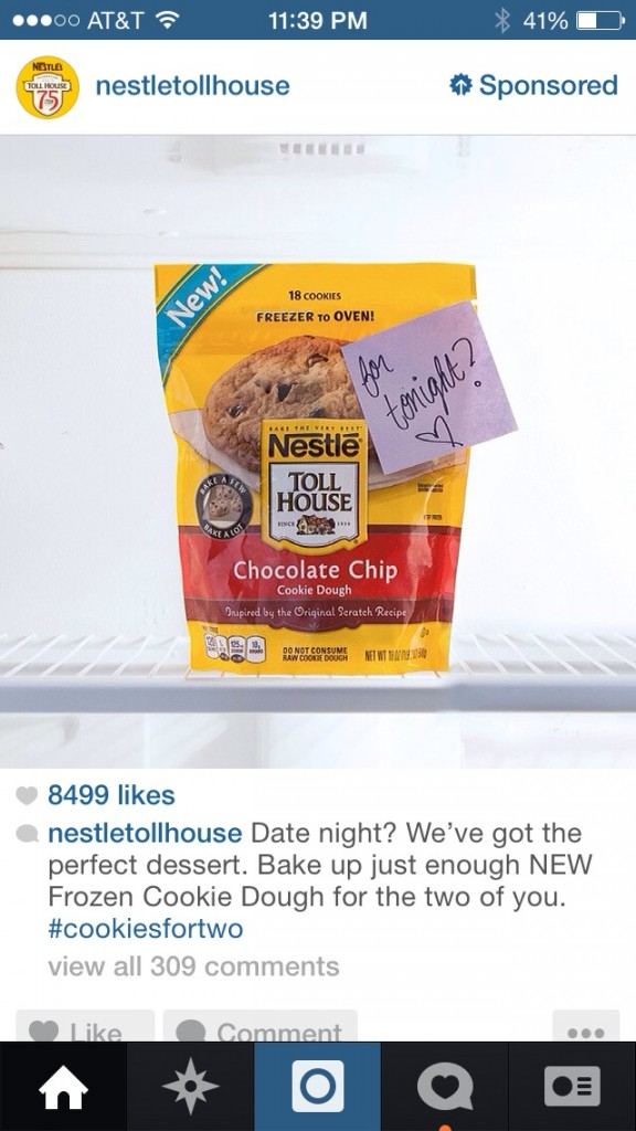 Nestle Tollhouse Instagram Ads