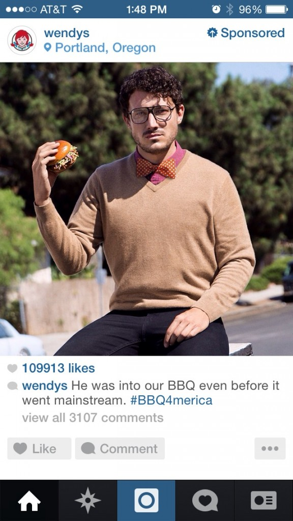 Wendy's Instagram Ads