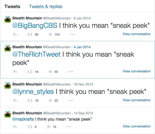 Stealth Mountain Twitter Screenshot